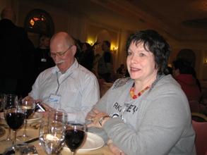 Thomas Mielke med fru vid middag