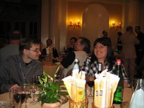 Sten och Dessi vid middag