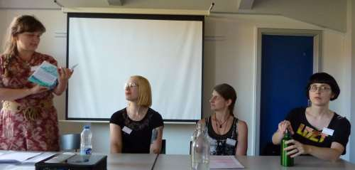 Majbrit Høyrup, Nene Ormes, Tricia Sullivan, Karin Tidbeck